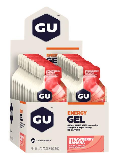GU Energy Gel Box 24x32g, Strawberry Banana